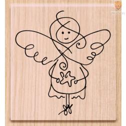 Lesena štampiljka Angelček 1 kos