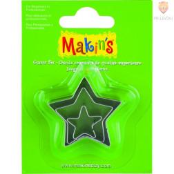 Kovinski modelčki za izrezovanje 3 kosi 3 različne velikosti Zvezdice