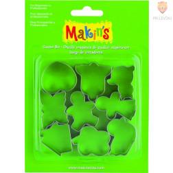 Kovinski modelčki za izrezovanje splošne oblike 9 kosov