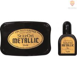 Blazinica za štampiljke StazOn Metallic - zlata, 1 kos