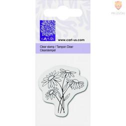 Prozorna silikonska štampiljka Marjetice