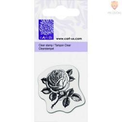Prozorna silikonska štampiljka Vrtnica