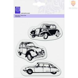 Prozorna silikonska štampiljka Trije avtomobili
