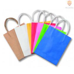 Papirnata darilna vrečka barvna 12 x 5,5 x 15 cm - 1 kos