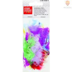 Perje pisano pastelni miks 15 kosov