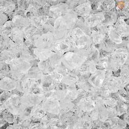 Dekorativni stekleni kamni prozorni 4-10mm 500ml
