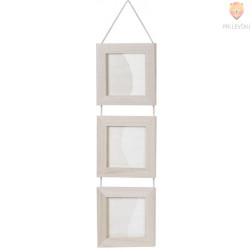 Leseni okvirji kvadratni 18,5cm viseči 3 kosi