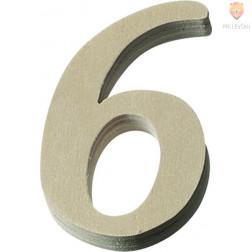 Lesena številka 0-9 višine 8 cm