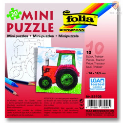 Mini sestavljanka Traktor 14x14,5cm 10 kosov