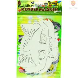 Papirnate maske Gozdne živali 6 kosov