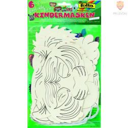 Papirnate maske Eksotične živali 6 kosov