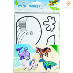 Predloge za stoječe figurice iz kartona Živali 4 kosi