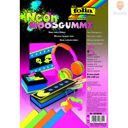Moos gumi neon barvni miks 20x29 cm 5 kosov