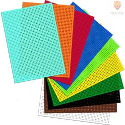 Barvni karton za vezenje nepotiskan 40 kos