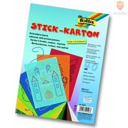 Barvni karton za vezenje 40 kos