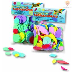 Moos gumi izrezane oblike geometrijski liki 200 kosov