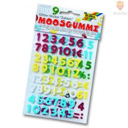 Moos gumi rezane oblike, številke barvni miks, 100 kos