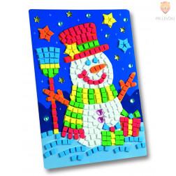 Moos gumi mozaik Snežak