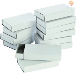 Škatlice za vžigalice velike bele 10 kosov