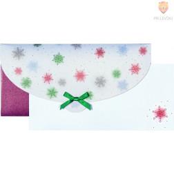 Darilna kuverta Snežinke 23x11cm