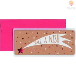 Darilna kuverta Make a wish 23x11cm