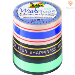 Set washi lepilnih trakov Stripes Neon 3 kosi