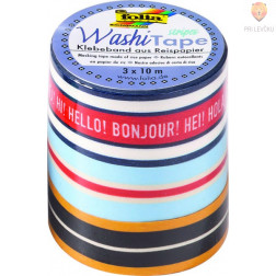 Set washi lepilnih trakov Stripes Classic 3 kosi