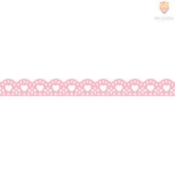 Washi dekor lepilni trak Roza srčki 1,5cmx5m