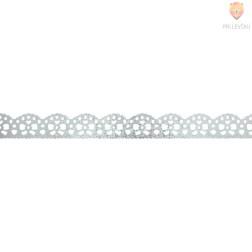 Washi dekor lepilni trak Srebrne pentlje 1,5cmx5m