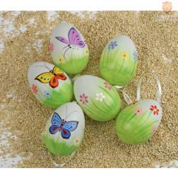 Dekorativna jajca pomladni motivi 6 kosov