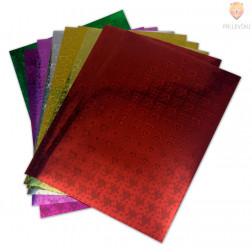 Samolepilni svetleč papir vzorec srčkov A4 10 listov