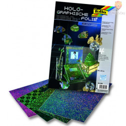 Hologramska folija samolepilna 23x33cm 4 listi