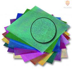 Origami papir svetleč pikast vzorec 14cmx14cm 50 listov