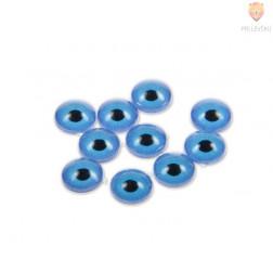 Oko okroglo 3D modro 8 mm 10 kosov