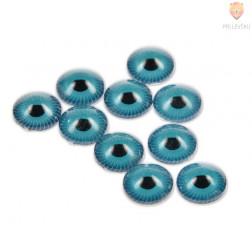 Oko okroglo 3D modro 12 mm 10 kosov