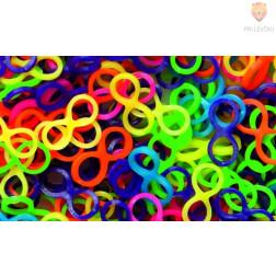 Gumijaste vrvice Osmice barvni miks 500 kosov