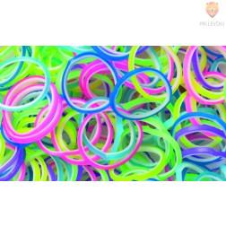 Gumijaste vrvice dvobarvne barvni miks 500 kosov
