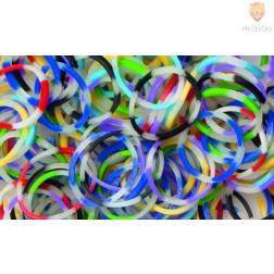 Gumijaste vrvice barvne črtaste svetijo v temi 500 kosov