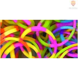 Gumijaste vrvice barvne črtaste miks 500 kosov