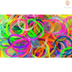 Gumijaste vrvice transparentni barvni miks 500 kosov