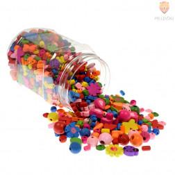 Perle lesene miks oblik in barv, 250 g