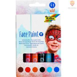 Barve za obraz v svinčniku Wild 6 kosov