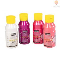 Set svetlečih akrilnih barv Acrylcolor rožnato-biserni odtenki 4x150ml