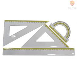 Set ravnil geometrijski 4 kosi