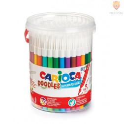 Flomastri tanki Doodles v lončku 100 kosov