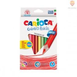 Barvice Colored pencils trikotne maxi 12 kosov