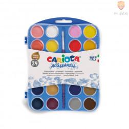 Vodene barve Carioca 24 barv + čopič
