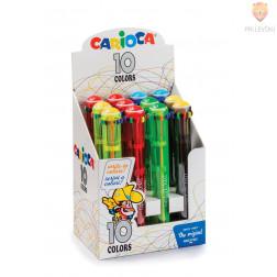 Barvni kemični svinčnik 10v1