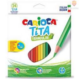 Barvice Tita trikotne oblike 24 kosov