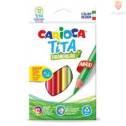 Barvice Tita trikotne maxi 12 kosov